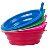 Cibi Cereal Bowls with Straws For Kids   BPA-Free 22 Ounce Sip-a-Bowl   Microwaveable and Dishwasher Safe Toddler Bowl Set for a Fuss-Free Breakfast   Four Pack in Blue, Pink, Green, and Red