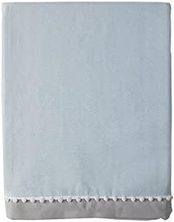 Living Textiles Bed Skirt, Blue/Grey