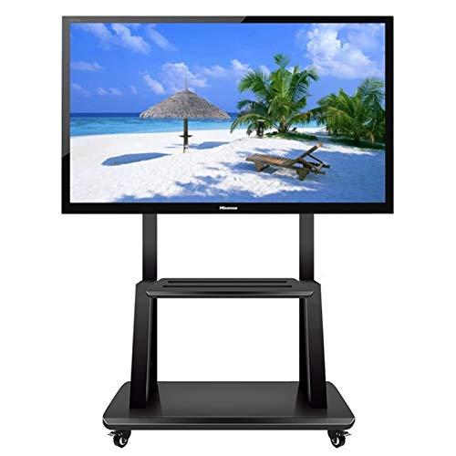 Soporte TV Trole Móvil Soporte universal giratorio para TV sobre ruedas, Carro de TV móvil con estante de almacenamiento para TV de pantallas LCD LED de 32/42/43/50/55/65/70/75 pulgadas, Altura ajusta