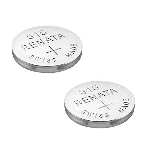 RENATA Lot de 2 Blisters de 1 Pile bouton oxyde argent X315 SR716SW