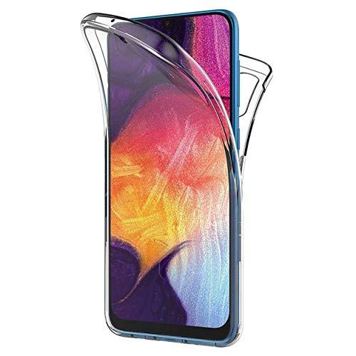 NewTop Cover Compatibile per Samsung Galaxy A70, Custodia Crystal Case TPU PC Protezione 360° Fronte Retro Full Body