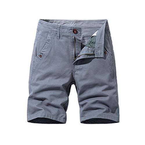 Briskorry Shorts Herren Kurze Hose Elastisch Atmungsaktiv Freizeit Shorts Sommer Baumwolle Sport Shorts Jungen Mit Gummizug Wanderhose Regular Fit