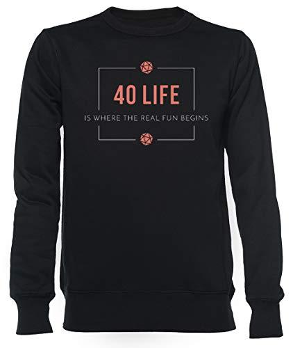 40 Life Commander - Magic The Gathering Unisex Herren Damen Sweatshirt Schwarz Unisex Men's Women's Jumper Black