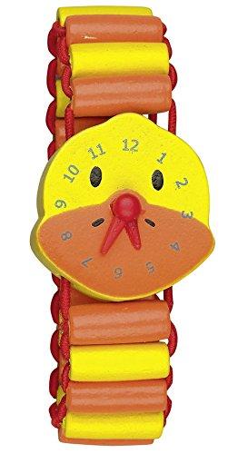 Die Spiegelburg Meine erste Armbanduhr aus Holz mit beweglichen Zeigern Die Lieben Sieben (Ente Lotte)