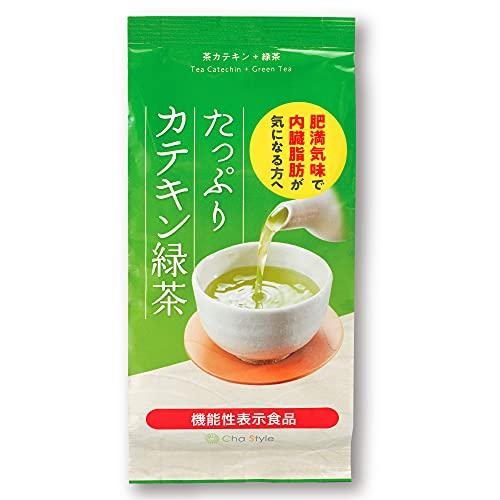 荒畑園 [機能性表示食品] たっぷりカテキン緑茶 肥満気味で内臓脂肪が気になる方へ 緑茶 静岡茶 深蒸し茶 茶カテキンには肥満気味の方の内臓脂肪を低下させる機能があることが報告されています 。茶カテキン+緑茶 (リーフ(茶葉), 【約33日分(1杯3gで1日2杯)】200g)