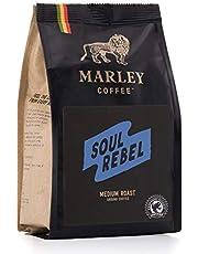Soul Rebel Medium Roast, Gemalen Koffie van Gemiddeld Gebrande Koffiebonen, Marley Coffee, van de familie van Bob Marley, Rainforest Alliance gecertificeerd, 227 gr