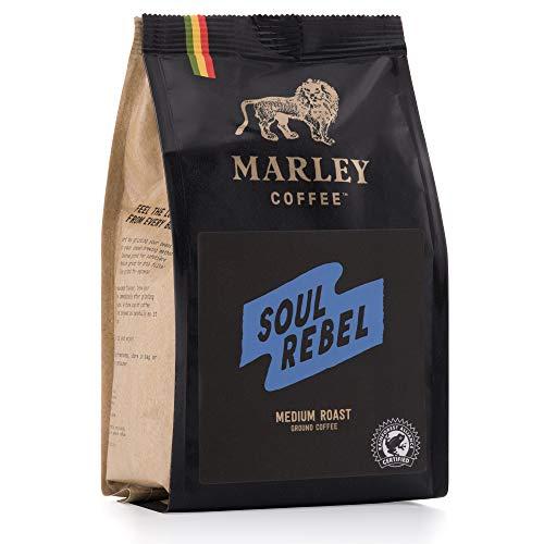 Soul Rebel średniej palonej kawy mielonej, Marley Coffee, z rodziny Bob Marley, 227 g