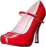 Ellie Shoes Women's 423-Babydoll Maryjane Platform Pump, Red, 9 M US