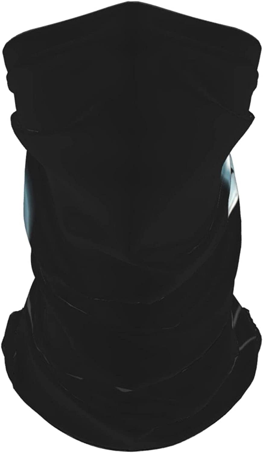 Closeup Portrait of A Halloween Black Cat Summer Ice Silk Breathable Face Mask Neck Gaiter Scarf Bandanas for Fishing,Hiking,Running,Motorcycle and Daily Wear