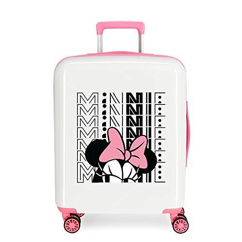 Disney Pretty Minnie Multi-coloured Cabin Suitcase 40 x 55 x 20 cm Rigid ABS Integrated TSA Closure 38.4L 2 kg 4 Wheels Double Hand Luggage