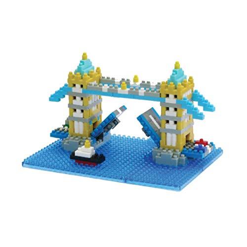 nanoblock NBH-065 - Tower Bridge, Minibaustein 3D-Puzzle, Sights to See Serie, 580 Teile, Schwierigkeitsstufe 3, schwer