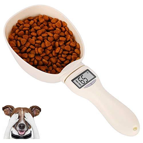 Hands DIY Cuchara digital con pantalla LCD, 250 ml, cuchara dosificadora para alimentos para perros domésticos, copa para básculas, cuchara desmontable para báscula digital para alimentos para