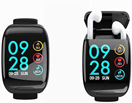 Smart Watch with Bluetooth Earbuds Wireless Earphone Fitness Tracker Heart Rate Monitor Bracelet product image