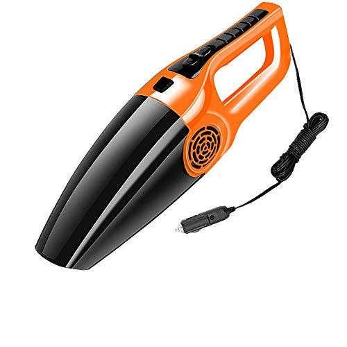 Mini Aspiradora De Coche 12V De Alta Succión para Coche Aspiradora De Polvo De Uñas De Mano De Doble Uso Húmedo Y Seco para El Hogar Naranja