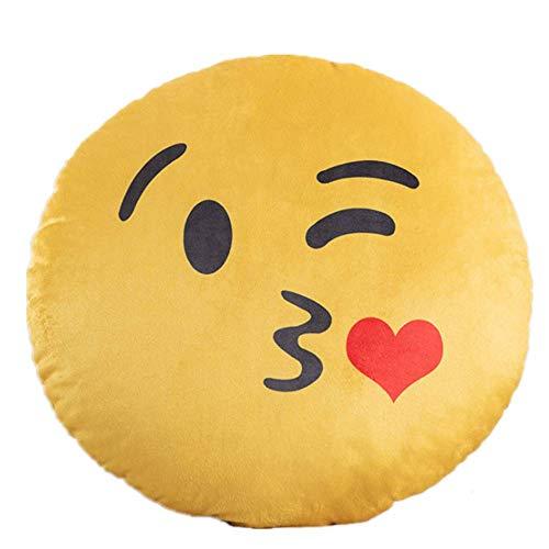 Kissen Emoji Druck Umarmung Kissen Plüsch Spiel Kissen Kinder Spielzeug Kissen 40 * 40cm/ küssen