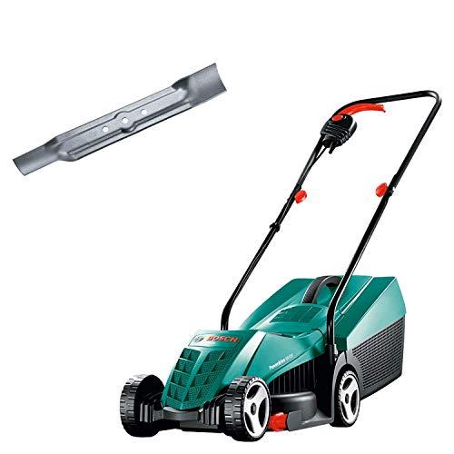Bosch Rasenmäher ARM 32, 31 l Grasfangkorb, Karton (1200 Watt, 32 cm Schnittbreite, 20-60 mm Schnitthöhe) & Ersatzmesser rotak 32/320, F016800340
