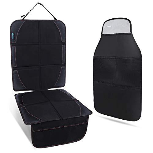 2019新発売 Rollibot チャイルドシートカバー キックガード 2点セット 滑り止め 収納ポケット付き 車座席保護シート