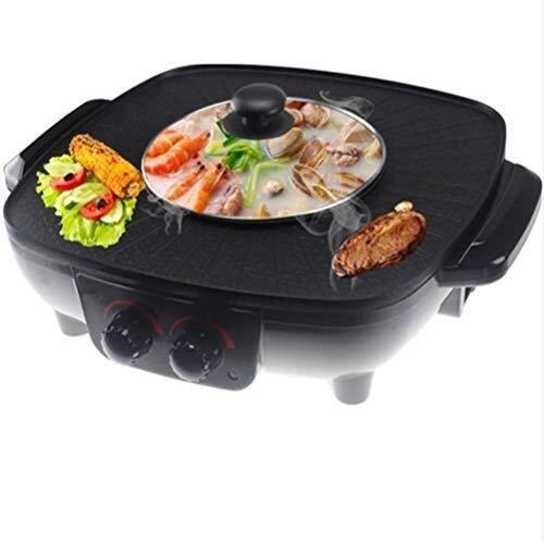 Barbecue Hot Pot, Multi-functie Circulatie Verwarming Double U-vormige Verwarming Tube Barbecue Pot, Non-stick gemakkelijk schoon te maken Elektrische grills hsvbkwm