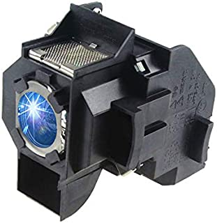 Huaute V13H010L34 / ELPLP34 Replacement Projector Lamp with Housing for Epson PowerLite 62C 76C 82C EMP-62 EMP-62C EMP-63 EMP-76C EMP-82 EMP-X3 Projectors