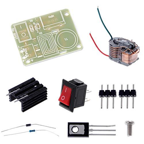 BIlinli 15KV Hochfrequenz DC Hochspannungslichtbogen-Zündgenerator Inverter Boost Transformator 3.7V DIY Kit