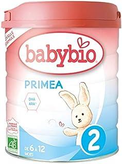Babybio - Lait Infantile - Primea 2ème Âge - 800g - dès 6 Mois - BIO - Fabriqué en France - Sans Huile de Palme