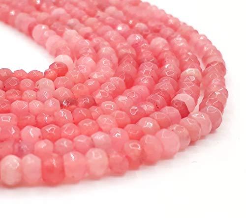 Perlin Pietre preziose di agata, 4 mm, salmone arancione, 30 pezzi, sfaccettate, pietre semipreziose