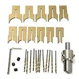 SODIAL 24PZ Coltello A Sfera In Metallo Utensili Per La Lavorazione Del Legno Perline In Legno Trapano Perlina Rotativa 6-25Mm