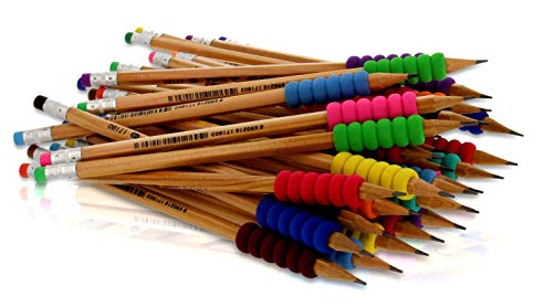 Bleistifte mit Griff – 36 bruchfeste HB Bleistifte mit Radiergummi – Hochwertiger ergonomischer Schaumgriff – Umweltfreundliches FSC Holz, TÜV Nord, CE, EN71 zertifiziert