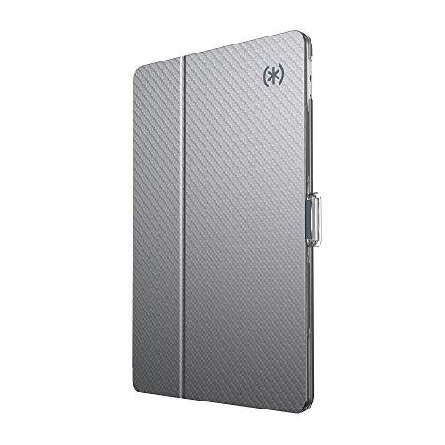 Speck Products Balance Folio Clear iPad Air Case (2019), Compatible with Apple iPad Pro 10.5-Inch, Clear/Gunmetal Grey Woven Metallic