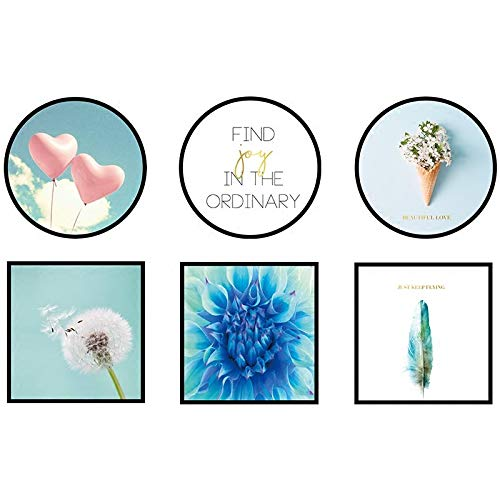 AWGSQ Sticker Mural Nature Cadre Photos Combinaison Affiches Et Gravures Mur Art PVC Peinture Mur Photos pour Salon Décoration