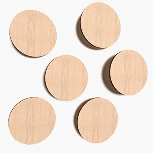 30x Kreis aus Holz 3cm Ø Basteln Malen Dekoration Bilderrahmen Holzscheibe