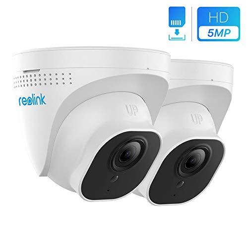 Reolink 5MP PoE IP Kamera, Überwachungskamera für Outdoor mit Audio, Bewegungserkennung, Fernzugriff, IP66 Wetterfest für Aussen, Haus Sicherheit RLC-520-5MP(2 Stück), neues Aussehen von RLC-420-5MP