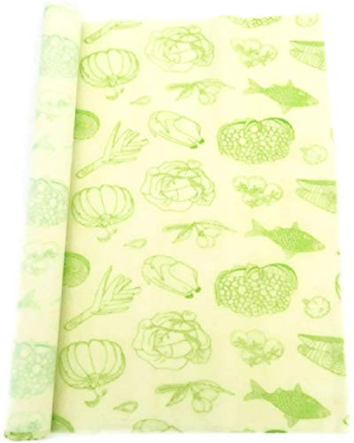Beeswax Food Wrap Roll 13 x 39 Inch Reusable Beeswax Wraps Eco-Friendly Sustainable Food Storage Wraps for Sandwich, Cheese Storage, Fruit, Bread, Snacks Beeswax Wrap