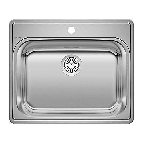 BLANCO, Stainless Steel 441078 ESSENTIAL Drop-In Utility Laundry Sink