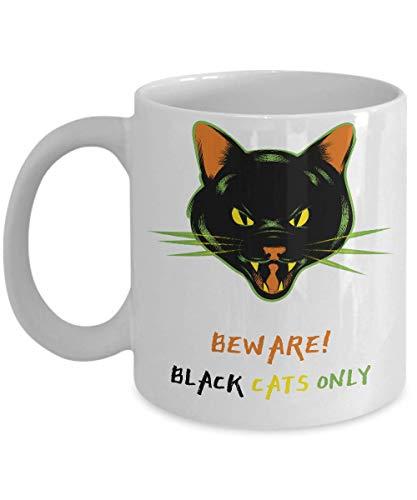 N\A Taza de café de Halloween de Gato Negro Hocus Pocus Tema de Terror Aterrador mercancía de Monstruos clásicos universales, Taza de cerámica de otoño premios para Adictos góticos espeluznantes