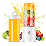 Mini Personal Portable Blender,YUEMIDAMY Personal USB Juicer Blender can make Juices/Smoothies/Shakes and More,Mini Cup Shape Juicer Blender Capacity 420ml Belongs to Single Serve Blender Cup,USB Rechargeable Juice Cup Juicer Blender(BPA free)