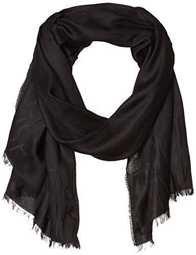 Emporio Armani - Sciarpa da donna in cashmere con frange - Nero - taglia unica