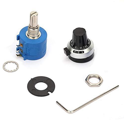 El dial numérico estable con 10 vueltas, dial de conteo, perilla giratoria, potenciómetro bobinado confiable, potenciómetro de estructura simple, para el trabajo en la fábrica de la tienda