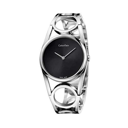 Calvin Klein Reloj Analogico para Mujer de Cuarzo con Correa en Acero Inoxidable K5U2S141