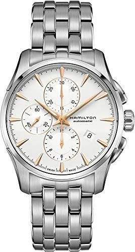 Reloj Hamilton Jazzmaster Auto Chrono Blanco Brazalete Acero H32586111