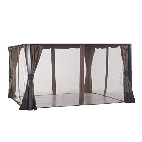 Sunjoy A111504200 Original Replacement Mosquito Netting for South Hampton Gazebo (11x13 FT) L-GZ659PST Sold at BigLots, Turquoise