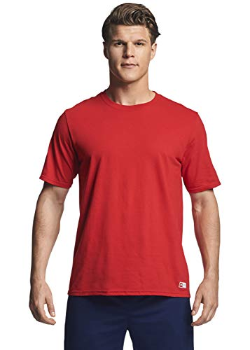 Russell Athletic mens Performance Cotton Short Sleeve T-Shirt, true red, L