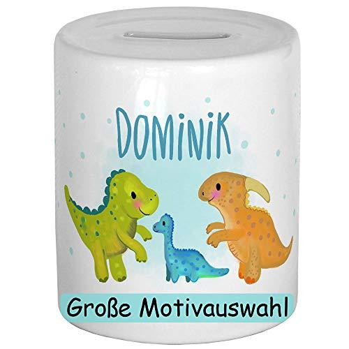 My Sweetheart® Personalisierte Spardose mit Namen Dino Sparschwein Kinder Geldgeschenke zu Weihnachten Geburtstag Kind