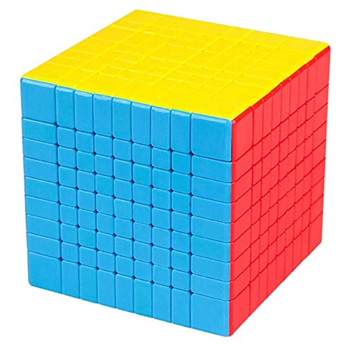 JYING Rubix Cube, Speed Cube 9x9 Stickerless Bright Magic Cube Cubing Classroom Smooth Puzzles Cube