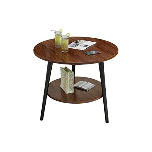 dxzsf Nordic Coffee Table Flower Table Small Round Table Simple Modern Small Apartment Bedroom Balcony Double Creative Mini Sofa Side Table (Color : A)