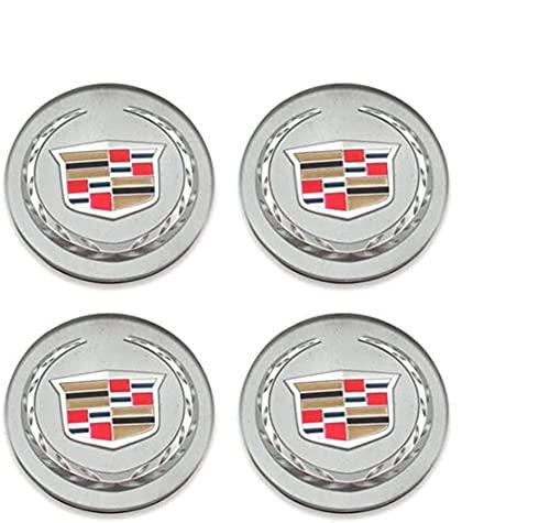 Tapas De Cubo De Rueda De 4 Piezas, Tapas De Centro De Cubo Con Pegatinas Con Logotipo, Accesorios De Coche, Para Cadillac Ats Cts Dts Srx Xts Xlr 66mm