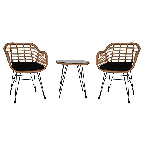 Bonnlo 3 piece patio Bistro Set Garden Table And Chairs,Garden Furniture Sets Outdoor Patio Furniture
