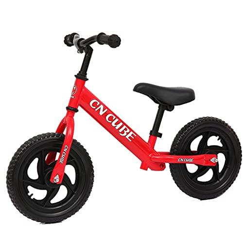 Scooter estándar de Dos Ruedas para bebés y niños pequeños de 12 Pulgadas (Rojo, Amarillo, Azul, Rosa, Naranja)