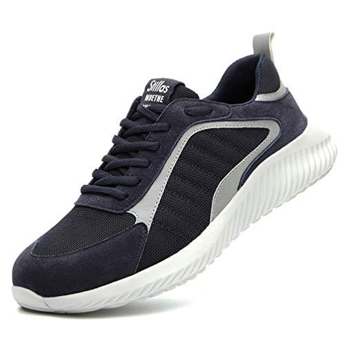 AFFINEST Zapatillas de Trabajo Hombre Zapatos de Seguridad S1 con Puntera de Acero Calzado...