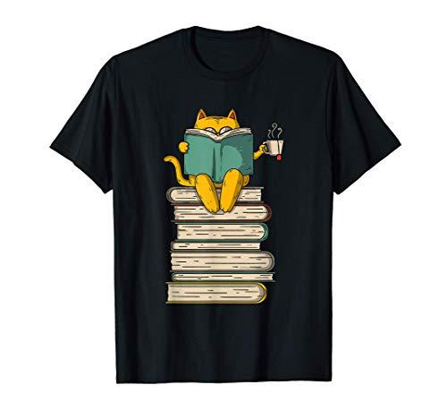 Reading Cat - Funny Book & Tea Lover Gift T-Sh